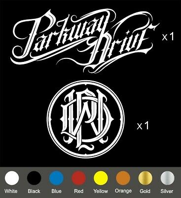 Parkway Drive and Reverence Monogram decals ( total x 2 )