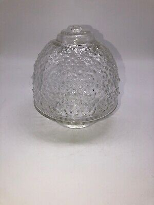 Vintage Acorn Clear Bubble Glass Ceiling Light Shade Globe