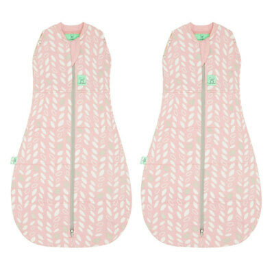 2PK ErgoPouch Organic/Cotton 2.5 TOG Cocoon Swaddle Bag 2-6m Baby Spring Leaves