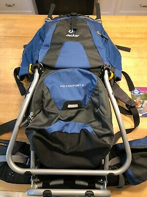 d8e0e031df4 Deuter Kid Comfort II Framed Hiking Child Kid Carrier Backpack Blue Awesome  pack