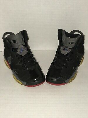 691c7161c89 Air Jordan 6 Retro GS Piston Black Varsity Red Tr Bl Lt Grpht 384665 001 Sz
