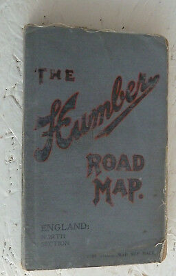 Humber Road-Map of England (North Section) Soft-Cover Small Linen Atlas