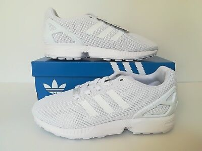 Adidas Originals ZX Flux Junior White Trainers Size 6 UK S81421