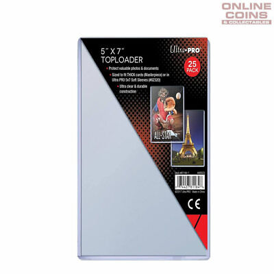 """Ultra Pro Speciality Series Toploader 5"""" x 7"""" 1mm Thick - 25 Per Pack"""