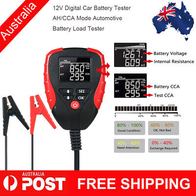 12V Digital Car Battery Tester with AH/CCA Mode Automotive Battery Load Tester