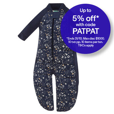 ErgoPouch Sleep Suit Bag 2.5TOG Organic Cotton Baby/Infant 2-4y Southern Cross