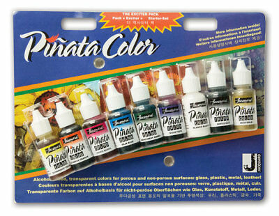 Jacquard PINATA - Alcohol Inks - Exciter Pack of 9 Small Bottles