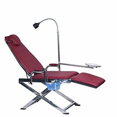 Greeloy Portable Dental Folding Chair Unit with LED Light  + Waste Basin + Tray
