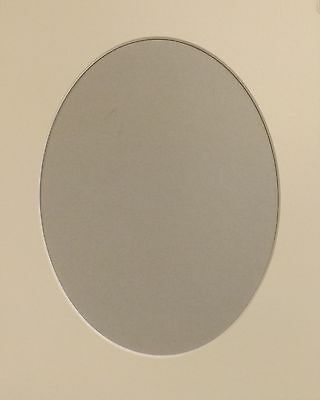 "1 x 8"" x 6"" Oval Aperture, Soft White 10/ 8"" O/Size Photo/Picture Mount Card."
