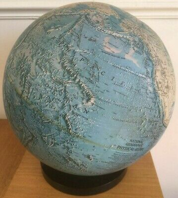 Vintage National Geographic World Globe Map 1979