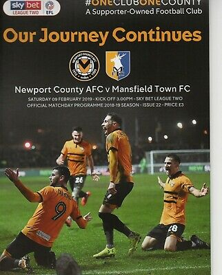 Newport County v Mansfield Town 2018-2019