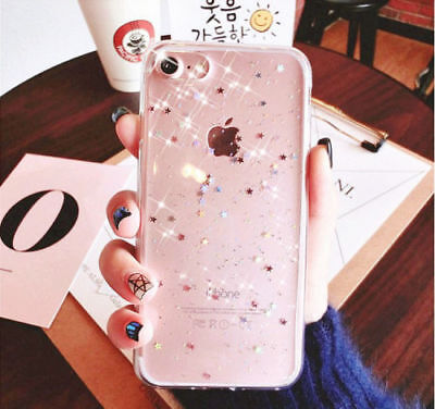 Bling Glitter Silicone Soft TPU Shockproof Clear Case Cover For Samsung S10 S10e