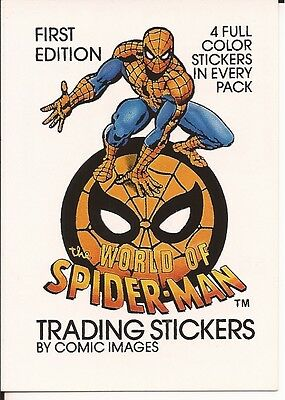 Uomo Ragno WORLD of SPIDER-MAN 1988 Header card by Comic Images