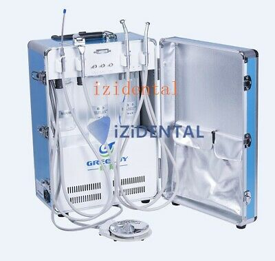 2019 New Upgraded Greeloy Portable Dental Unit Mobile w/ Air Compressor Suction