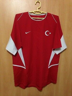 752203ddad4 Turkey National Team 2003 2004 Home Football Shirt Jersey Tisort Nike
