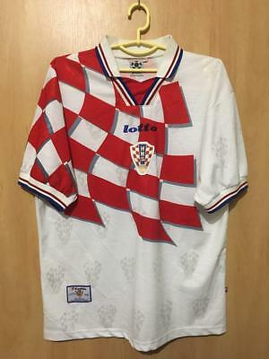 Croatia National Team 1998 World Cup Home Football Shirt Jersey Vintage Lotto