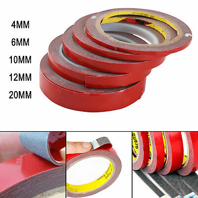2/5/8/10/20MM Vehicle Double Sided Sticker Car Adhesive Acrylic Foam Tape 3M