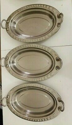 Lot of 3  Bon Chef  Food Pan Serving Dish Catering Hosting