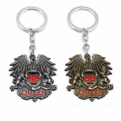 Fashion Jewelry Queen Rock Band Freddie Mercury Necklace Pendant Neck Chain Queen Metal Fob