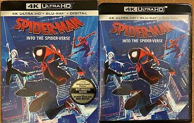 Marvel Spider Man Into The Spider Verse 4K Ultra Hd Bluray 2 Disc Rare Slipcover