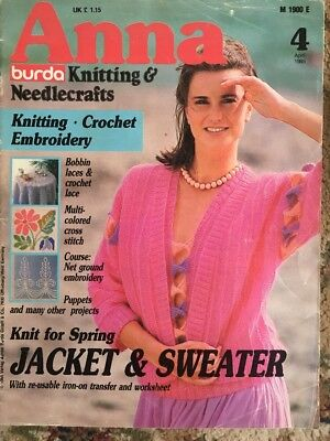 Anna Bursa Knitting & Needlecrafts April 1985