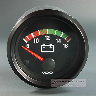 VDO VOLTMETER  INSTRUMENT GAUGE  *LED EDITION* 12V  52mm Cockpit international