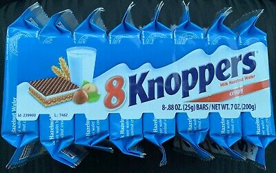 STORCK - KNOPPERS - 10 pcs - German Chocolate Wafer Snack 10 x 25g