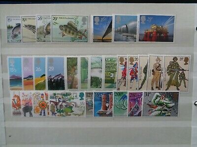 Great Britain 1983 Commemorative Stamps Year Set Mint Mnh 7 Sets 29 Stamps