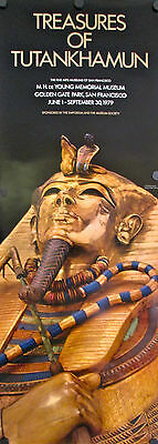 Orig 1979 Treasures of Tutankhamun Poster - CLOSE-UP - museum tour VERY RARE!