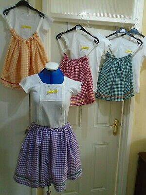 Pantomime babes set of 4 x village costumes ages 7-8