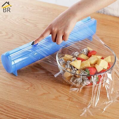 All Sizes Plastic Wrap Dispenser Aluminum Foil Holder Box For Cutting Film New