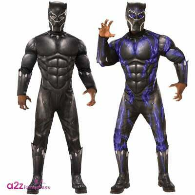 Adult Black Panther Official Marvel 2019 AVENGERS ENDGAME Fancy Dress Costumes
