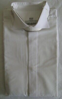 Jozka Rudolf  White nehru grandad mandarin collar shirt collarless evening wear