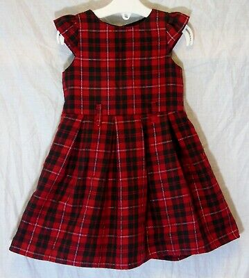 bc8d60624 Baby Girls Primark Red Black Tartan Sparkly Check Party Dress Age 12-18  Months