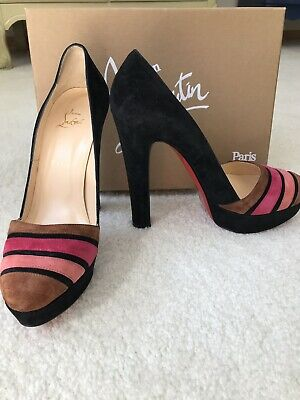 new product 12783 2dd60 CHRISTIAN LOUBOUTIN VIVA Bella Black Suede Pumps Size 39