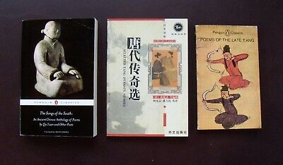 3 bks-Ancient Chinese Poets, Poetry & Stories from Tang Dynasty, Qu Yuan & More