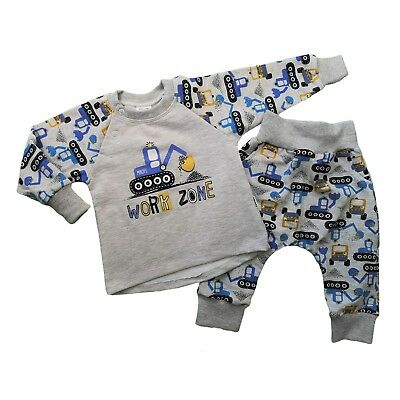 BNWT Baby Toddler Boys Tracksuit Outfit Set Jumper & Trousers 3-6/12-18 Months