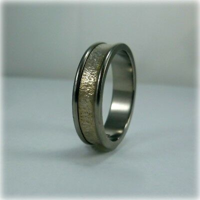 Titanium and Silver Wedding Band by Prism Design