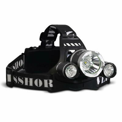WEISSHORN LED Headlamp Rechargeable Head Torch Light 90000LM CREE XML T6 Camp