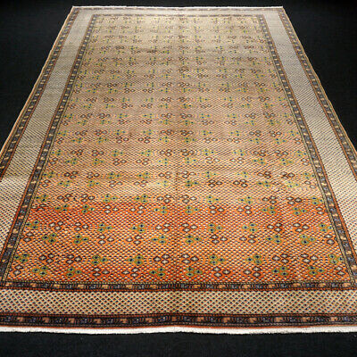 Orient Teppich Hereke 296 x 201 cm Antik Rotrost Old Turkish Carpet Rug Tappeto