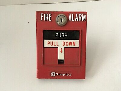 Simplex 2099-9756 Conventional Fire Alarm Pull Station Dual Action TBar