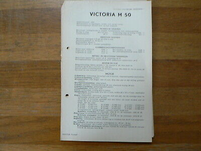 Victoria 50 1954 Onwards Service And Repair Guide And Part List Moped Mofa