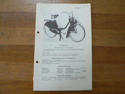 Solex  Oto Rijwiel 1960 Onwards Service And Repair Guide Bromfiets Moped Mofa
