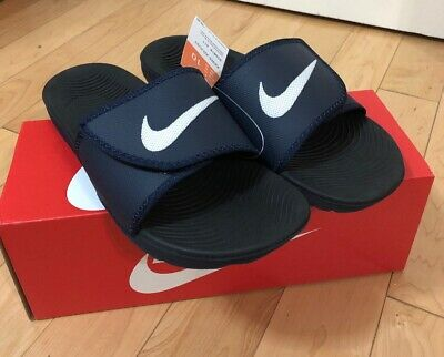 750746c0722f Men s Nike Kawa Adjustable Slide Sandal Obsidian white-Black 834818-411  Size 10