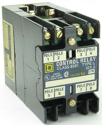 Square D 8501 L0-40 AC Magnetic Relay 120V Coil