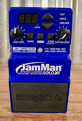 Digitech JamMan Solo XT Stereo Looper Sampler Guitar Bass Effect Pedal B Stock