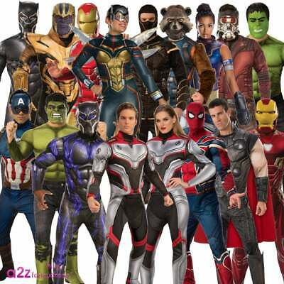 Adult Official Marvel 2019 AVENGERS ENDGAME Superhero Fancy Dress Costumes