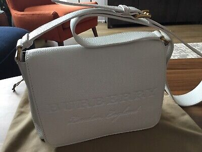 39a04979541 BURBERRY BURLEIGH SOFT Leather Crossbody in Chalk White - $780.00 ...