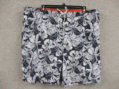 d97aaedac1 Goodfellow & Co Men's Big & Tall Hibiscus Swim Trunks/Board Shorts ...