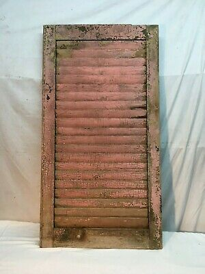 Architectural salvage Window Shutter Wall Hanging Shabby Pink Paint 38in x 20in